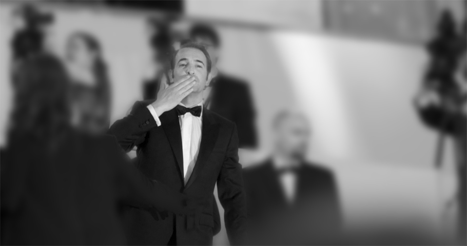 A kiss from Jean Dujardin